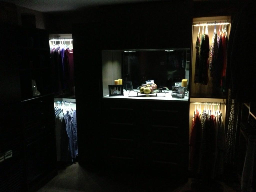 Custom Lighting for Closet